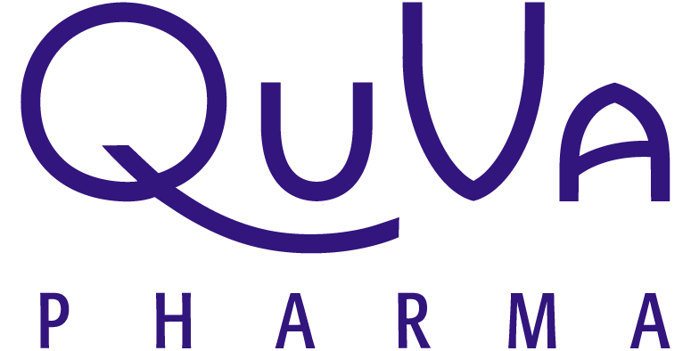 QuVa Pharma logo in Purple