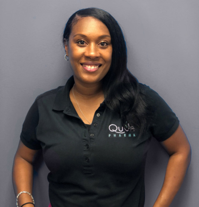 Headshot of QuVa Pharma's Quality Assurance Supervisor, Erica LaCour